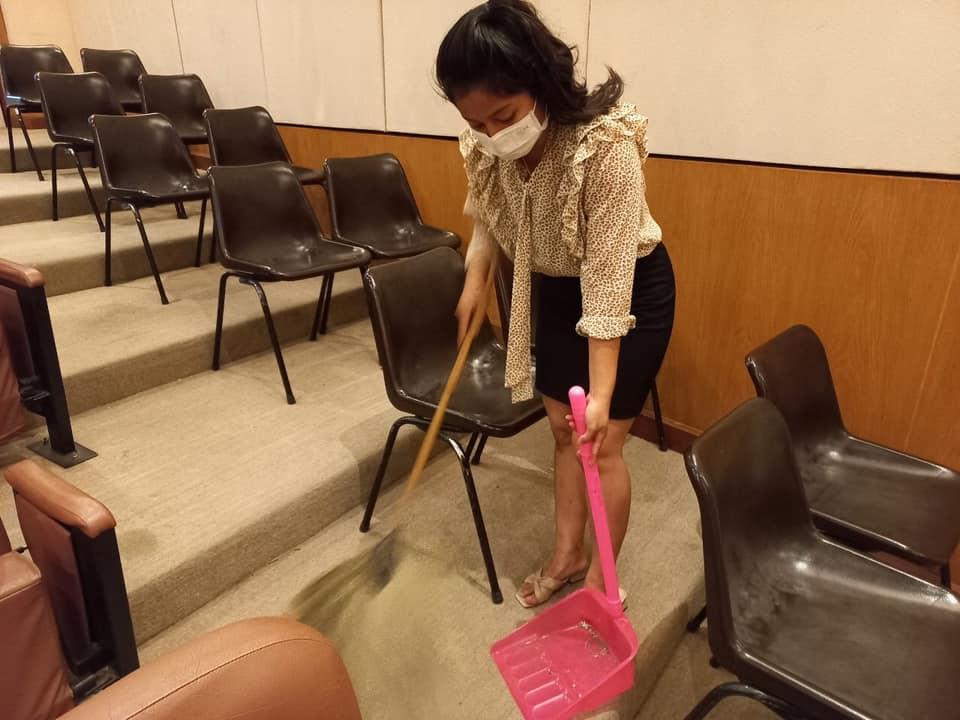 กิจกรรม   Cleaning Day   ประจำวันอาทิตย์ที่ ๑๓ มิถุนายน พ.ศ. ๒๕๖๔
