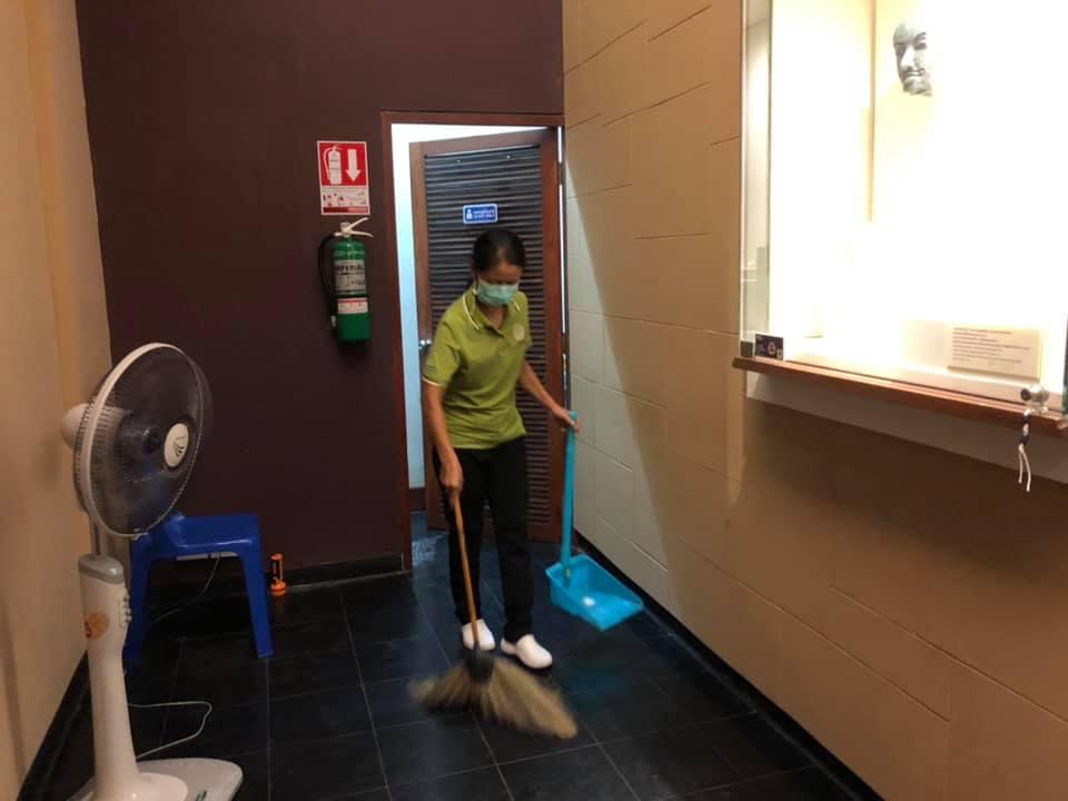 กิจกรรม   Cleaning Day   ประจำวันอาทิตย์ที่ ๑๘ กรกฎาคม พ.ศ. ๒๕๖๔