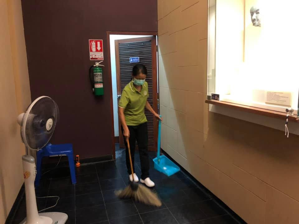 """กิจกรรม """" Cleaning Day """" ประจำวันอาทิตย์ที่ ๑๘ กรกฎาคม พ.ศ. ๒๕๖๔"""