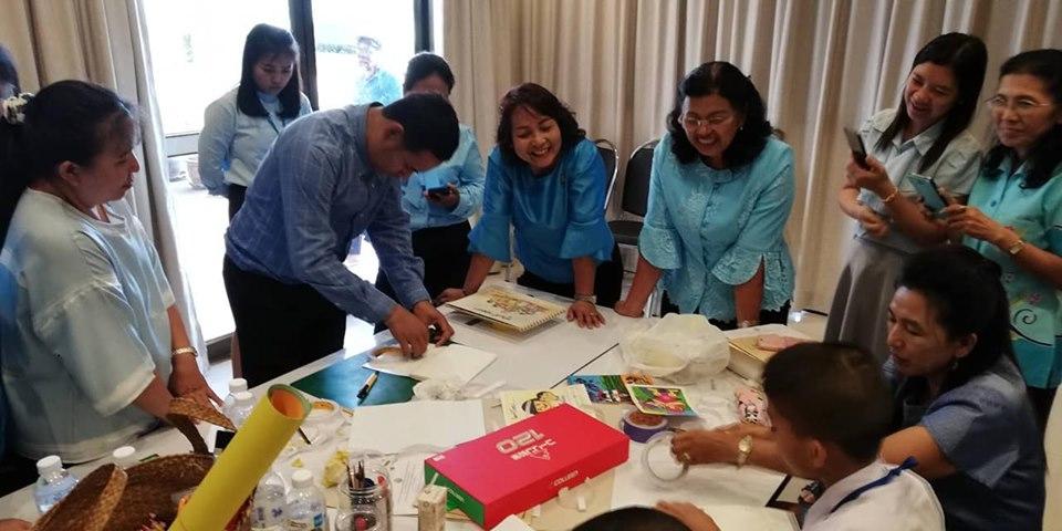 โครงการพัฒนาหอสมุดแห่งชาติเพื่อให้เป็นแหล่งเรียนรู้ตลอดชีวิตประจำป ๒๕๖๒ (อบรมการทำหนังสือเล่มเล็ก) (02 ก.ย. 62)